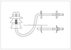 Post insulator ST 20 MK hook-fitting